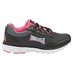 Lonsdale - Black/pink 'Southwick' ladies lace up trainers