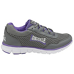 Lonsdale - Grey/purple 'Southwick' ladies lace up trainers