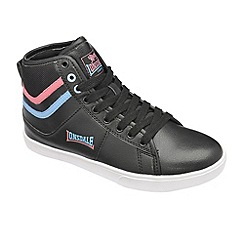 Lonsdale - Black/Pink/Sky Blue 'Clarksville Hi' trainers