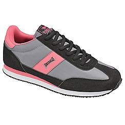 Lonsdale - Grey/black/pink 'imperial nylon' trainers