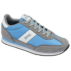 Lonsdale - Aqua/grey/white 'imperial nylon' trainers