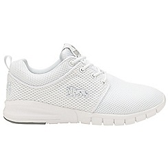 Lonsdale - White 'Sivas' ladies lace up trainers