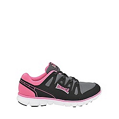 Lonsdale - Black and pink 'Caldas' trainers