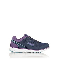 Lonsdale - Navy and purple 'Caldas' Trainers