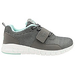 Lonsdale - Grey/mint 'Novas' ladies lace up trainers