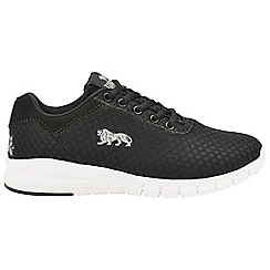 Lonsdale - Black/white 'Tydro' ladies lace up trainers