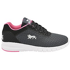 Lonsdale - Black/Pink 'Tydro' ladies lace up sports trainers