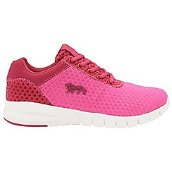 Lonsdale - Pink/beetroot 'Tydro' ladies lace up trainers