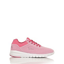 Lonsdale - Pink and white 'Tydro' trainers