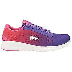 Lonsdale - Purple/pink 'Remi' ladies lace up trainers