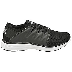 Lonsdale - Black/white 'Peru' ladies lace up trainers