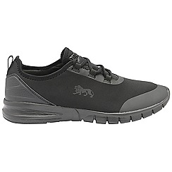 Lonsdale - Black 'Zambia' ladies lace up sports trainers