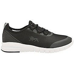 Lonsdale - Black/White 'Zambia' ladies lace up trainers