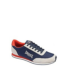 Lonsdale - Navy 'Broughton' mix trainers