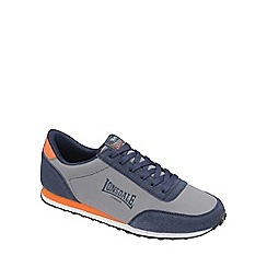 Lonsdale - Grey/navy/orange 'broughton mix' trainers