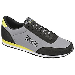 Lonsdale - Grey/black/volt 'broughton mix' trainers