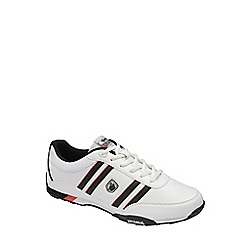 Lonsdale - White/Black/Red 'Bekker' trainers