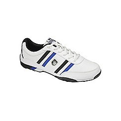 Lonsdale - White/ blue/ black 'Bekker' trainers
