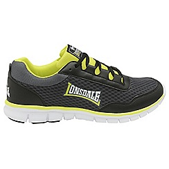 Lonsdale - Black/Yellow 'Southwick' lace up mesh trainers