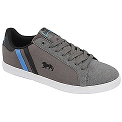 Lonsdale - Grey/black/blue 'coburn' trainers