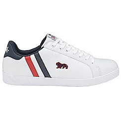 Lonsdale - White 'Lonsdale' coburn mens trainer
