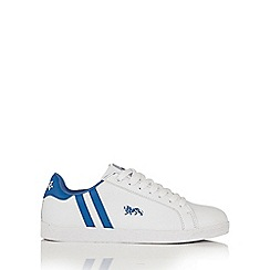 Lonsdale - White and blue 'Coburn' trainers