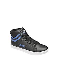 Lonsdale - Black/Blue 'Clarksville Hi' trainers
