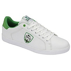 Lonsdale - White/green 'leon' trainers