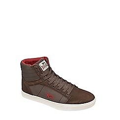 Lonsdale - Dark Brown/Burgundy/Ecru 'Keller Hi' trainers