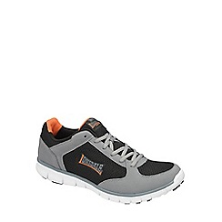 Lonsdale - Black/grey/orange 'shearwater' trainers