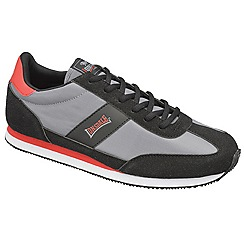 Lonsdale - Grey/black/red 'imperial nylon' trainers