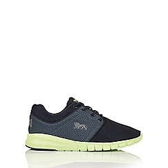 Lonsdale - Navy and lime 'Sivas' trainers