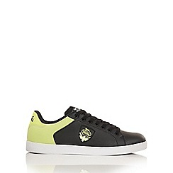 Lonsdale - Black and volt 'Leon 2' trainers