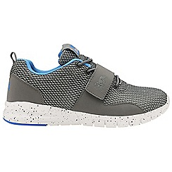 Lonsdale - Grey/Blue 'Novas' mens lace up trainers