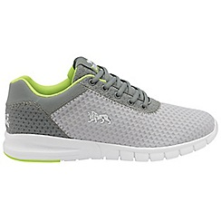 Lonsdale - Grey/Lime 'Tydro' mens lace up sports trainers