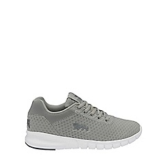 Lonsdale - Grey and white 'Tydro' trainers