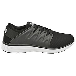 Lonsdale - Black/White 'Peru' lace up mesh trainers