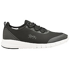 Lonsdale - Black/White 'Zambia' mens lace up trainers