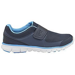 Lonsdale - Navy 'Lima' mens slip on sports trainers