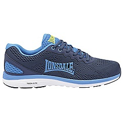 Lonsdale - Navy 'Lisala' mens lace up sports trainers