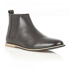 Frank Wright - Black 'Stark' leather chelsea boots