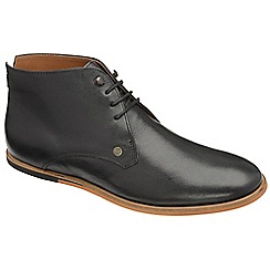 Frank Wright - Black 'Smith' lace up boots