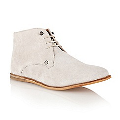 Frank Wright - Grey 'Smith' lace up boots