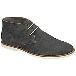 Frank Wright - Charcoal 'Bridges' desert boots