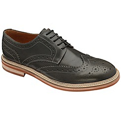 Frank Wright - Black 'Fry' derby brogues shoes