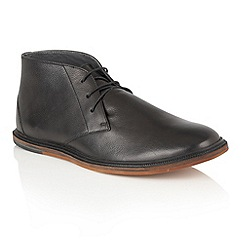 Frank Wright - Black 'Walker' mens lace up boots