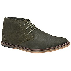 Frank Wright - Khaki 'Walker' men's lace up boots