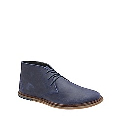 Frank Wright - Blue 'Walker' mens flat lace up boots