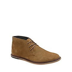 Frank Wright - Tobacco 'Walker' mens flat lace up boots