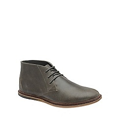 Frank Wright - Grey 'Walker' mens flat lace up boots
